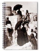 Tourists On Mammoth Terraces Spiral Notebook