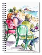 Tourists On The Costa Blanca In Spain Spiral Notebook