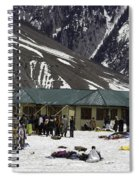 Tourists Surrounded By Snow And Ice Outside One Of The Few Buildings Spiral Notebook