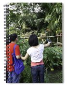 Tourists Viewing The Colorful Birds Spiral Notebook