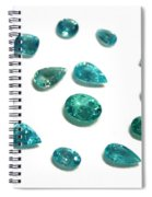 Tourmaline Paraiba Spiral Notebook