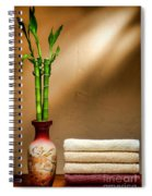 Towels And Bamboo Spiral Notebook