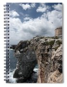 Stunning Tower Over The Cliffs Of Alcafar In Minorca Island - Tower And Sea Spiral Notebook