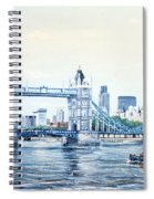Tower Bridge And The City Of London Spiral Notebook