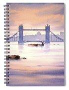 Tower Bridge London Spiral Notebook