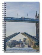 Tower Bridge Opened Spiral Notebook