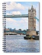 Tower Bridge Panorama Spiral Notebook