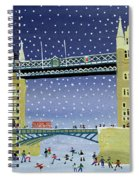 Tower Bridge Skating On Thin Ice Spiral Notebook