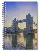 Tower Bridge Sunrise Spiral Notebook
