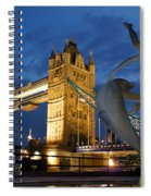 Tower Bridge The Dolphin And The Girl Spiral Notebook