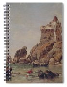 Tower Of Erchia, Gulf Of Salerno, 1849 Oil On Canvas Spiral Notebook