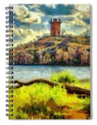 Tower On The Bluff Spiral Notebook