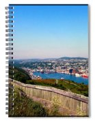Tower Over The City Triptych Spiral Notebook