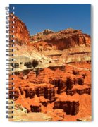 Towers Along The Waterpocket Spiral Notebook