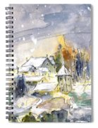 Town By The Rhine Falls In Switzerland Spiral Notebook