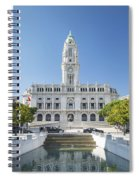 Town Hall In Porto Portugal Spiral Notebook