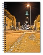Town In Deep Snow On Christmas  Spiral Notebook