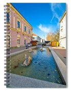 Town Of Bjelovar Square Fountain Spiral Notebook