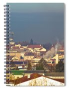 Town Of Bjelovar Winter Skyline Spiral Notebook