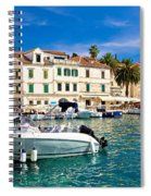 Town Of Hvar Waterfront View Spiral Notebook