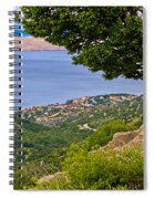Town Of Karlobag And Island Of Pag Spiral Notebook