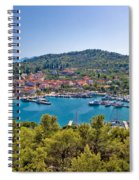 Town Of Kukljica Aerial View Spiral Notebook