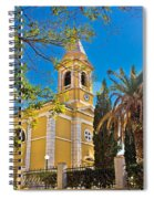 Town Of Novalja Church Pag Island Spiral Notebook