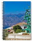 Town Of Razanac With Velebit Background Spiral Notebook
