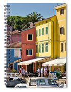 Town Of Veli Losinj Colorful Waterfront Spiral Notebook