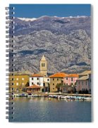 Town Of Vinjerac In Front Of Paklenica National Park Spiral Notebook