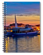 Town Of Vodice Harbor And Monument Spiral Notebook