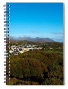 Town On A Hill With 12 Pin Mountain Spiral Notebook