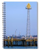 Town Quay Navigation Marker And Fawley Spiral Notebook