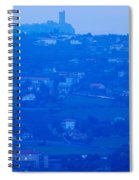 Town With Chateau De Polignac Spiral Notebook