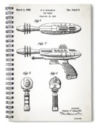 Toy Ray Gun Patent Spiral Notebook