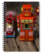 Toy Robot And Train Spiral Notebook