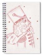 Toy Soldier Nutcracker In Red Spiral Notebook