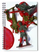 Toy Soldiers In A Pool Of Blood Spiral Notebook