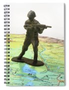 Toy Solider On Iraq Map Spiral Notebook