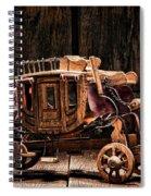 Toy Stagecoach Spiral Notebook