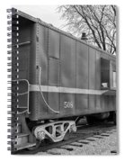 Tpw Rr Caboose Black And White Spiral Notebook