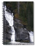 Tracey Arm Fjord Waterfall Spiral Notebook