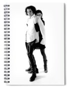 Traci And Eric Bw Spiral Notebook