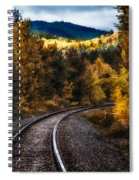 Tracks Through The Mountains  Spiral Notebook
