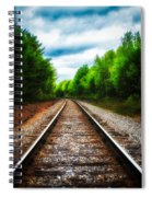 Tracks Through The Woods Spiral Notebook