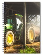Tractor In The Morning Spiral Notebook