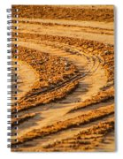 Tractor Tracks Spiral Notebook