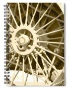 Tractor Wheel Spiral Notebook