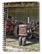 Tractors In The Shed Spiral Notebook