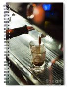 Traditional Espresso Coffee And Machine  Spiral Notebook